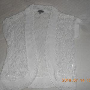 crocheted lace Bolero